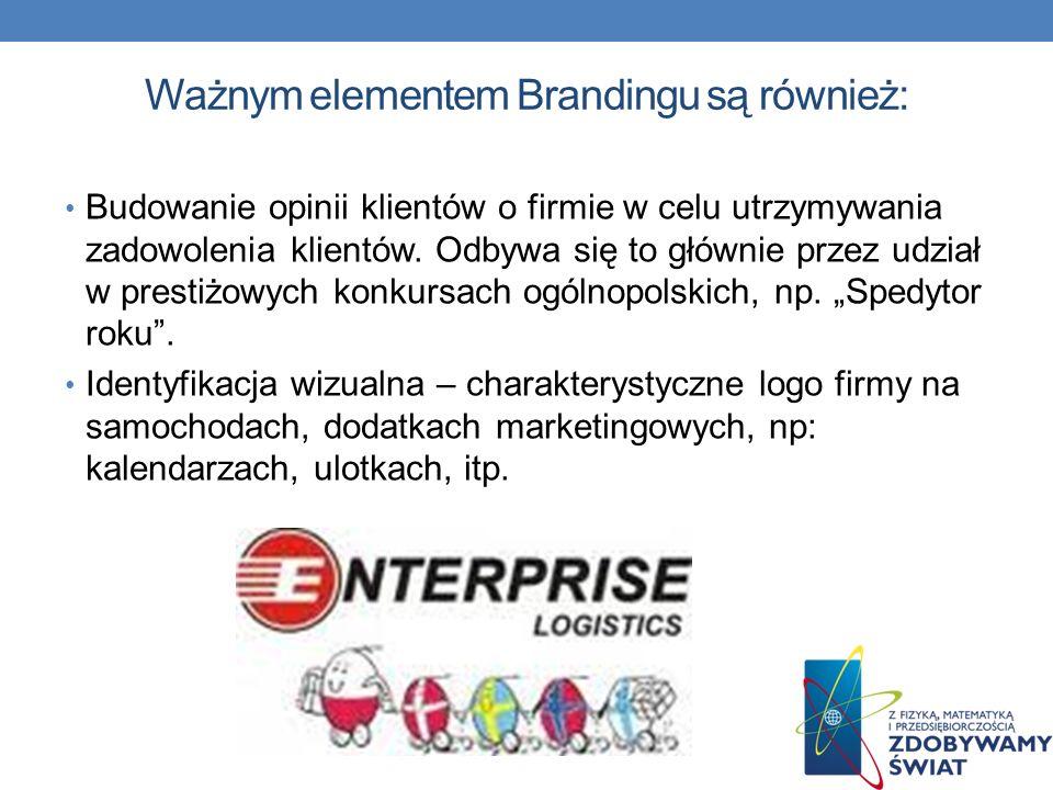 Ważnym elementem Brandingu są również: