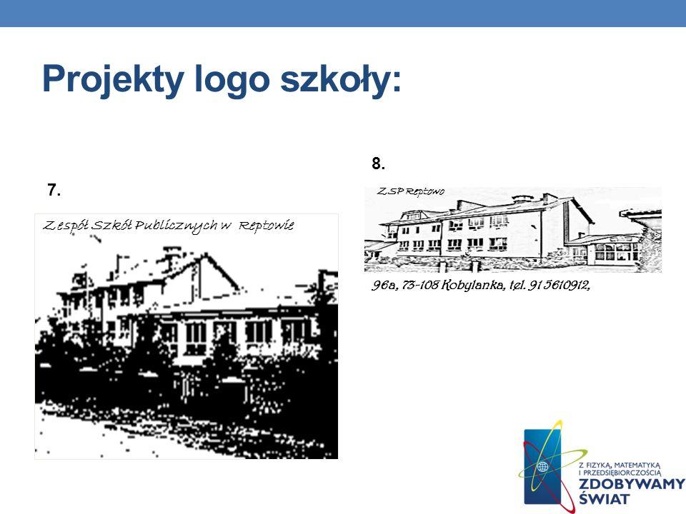 Projekty logo szkoły: 8. 7. Zespół Szkół Publicznych w Reptowie