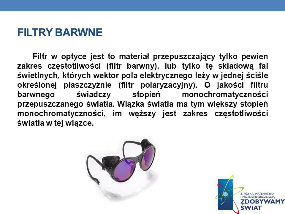 Filtry barwne