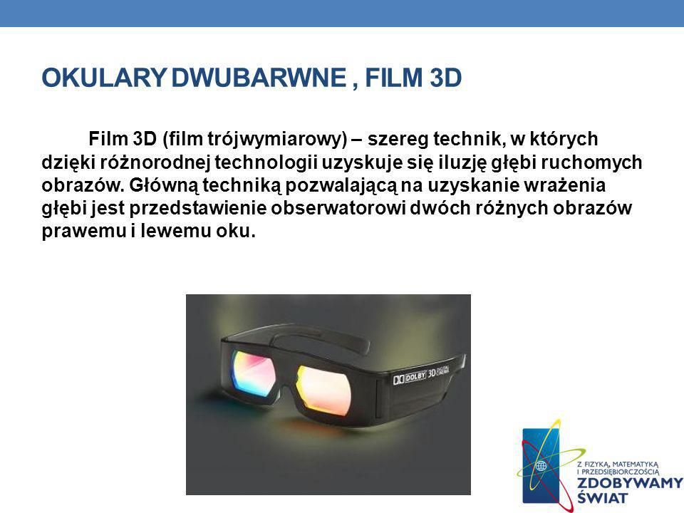Okulary dwubarwne , film 3d