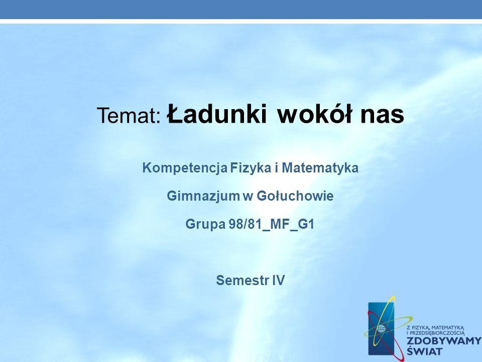 Kompetencja Fizyka i Matematyka Gimnazjum w Gołuchowie