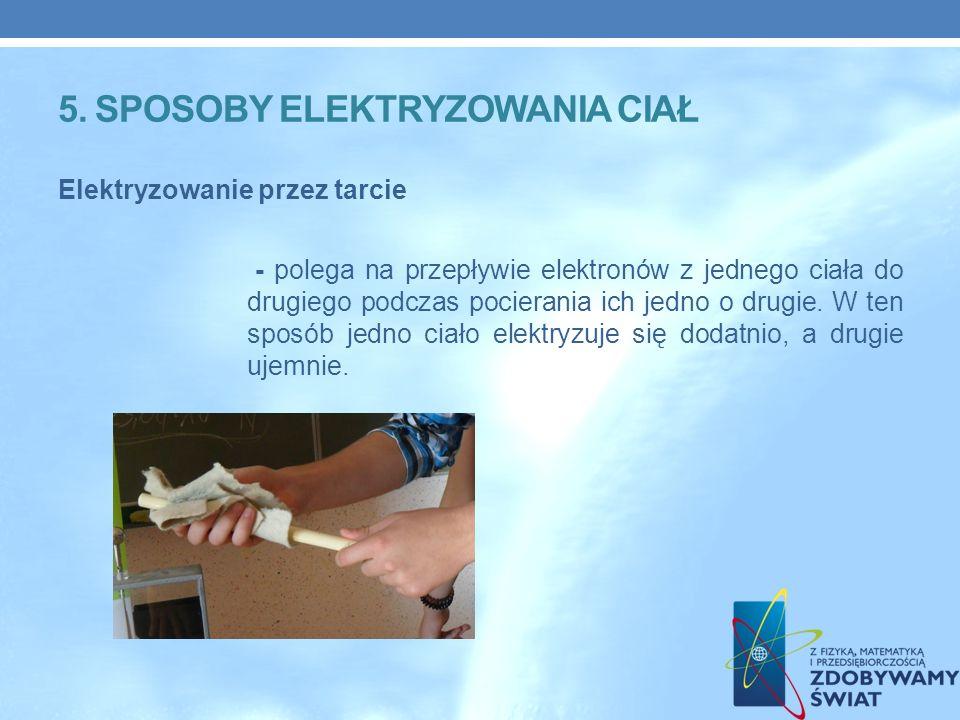 5. Sposoby elektryzowania ciał