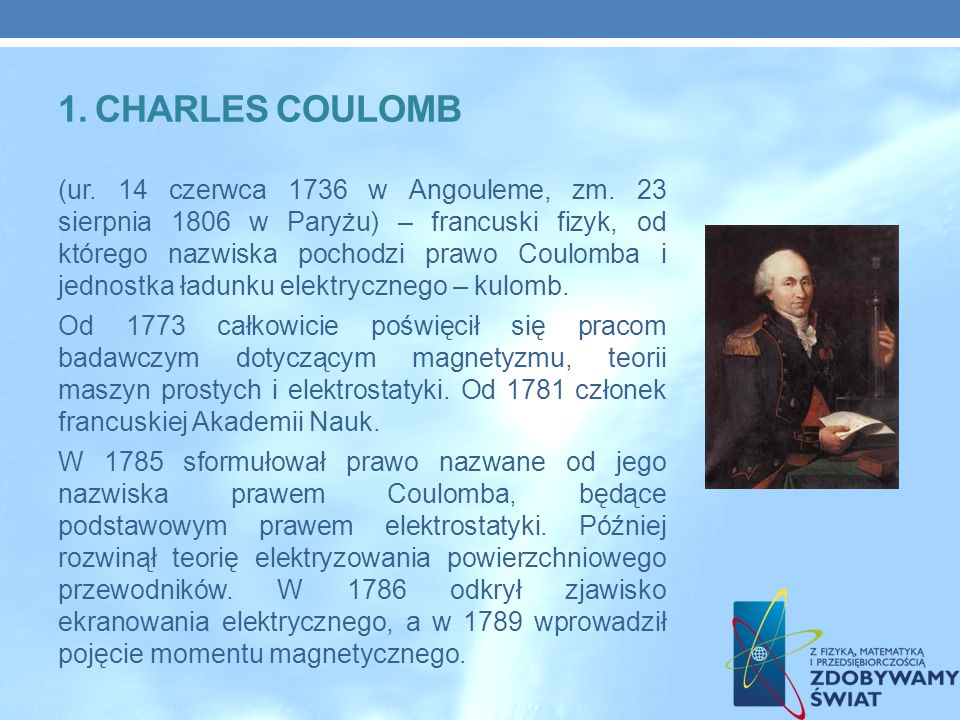 1. Charles coulomb