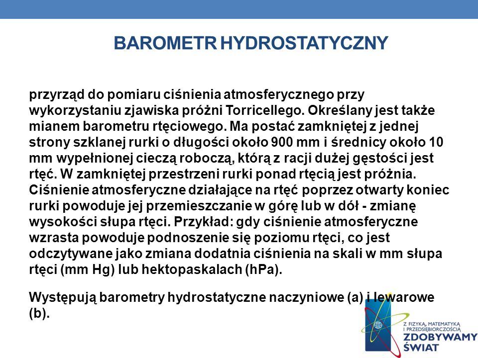 Barometr hydrostatyczny