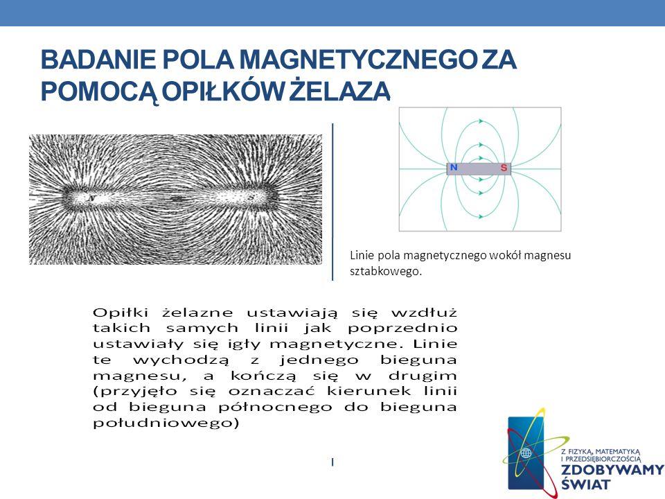 Badanie pola magnetycznego za pomocą opiłków żelaza
