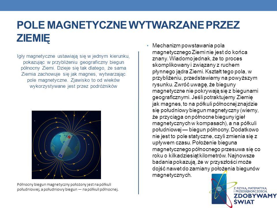 polE magnetyczne wytwarzane przez Ziemię