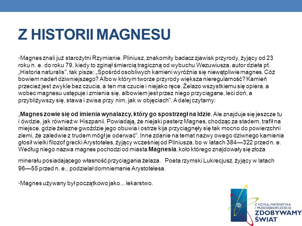 Z HISTORII MAGNESU