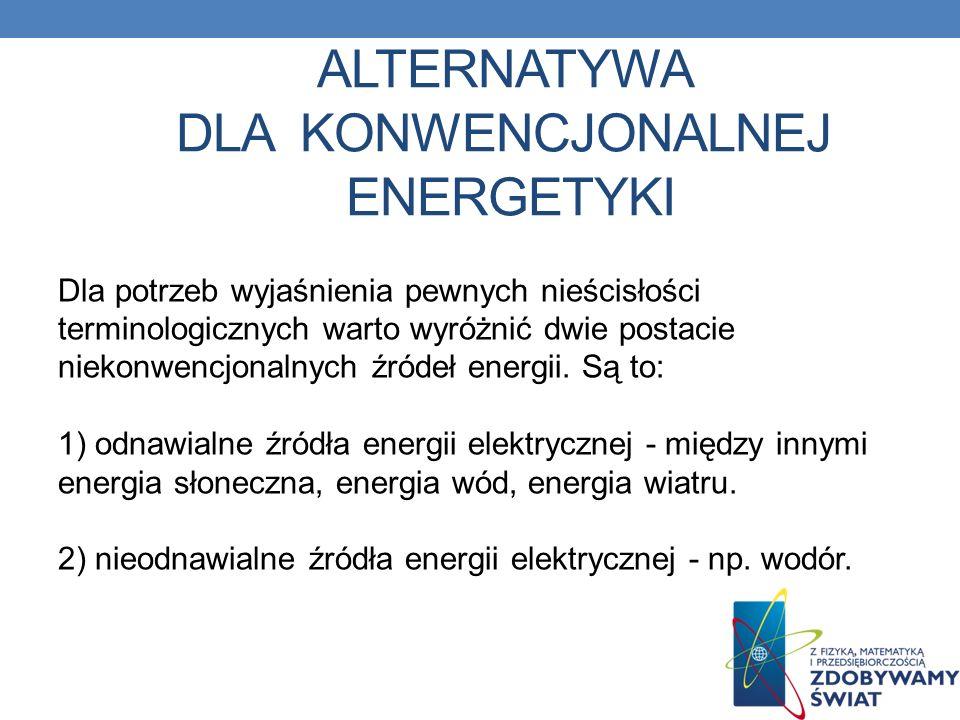 Alternatywa dla konwencjonalnej energetyki