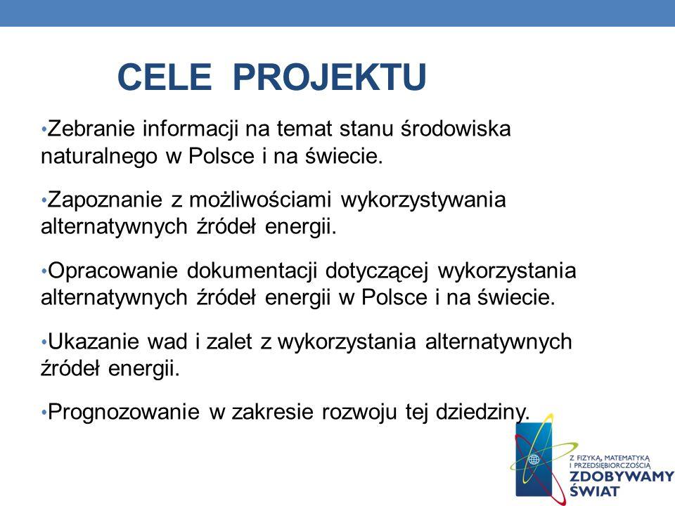 Cele projektu Zebranie informacji na temat stanu środowiska naturalnego w Polsce i na świecie.