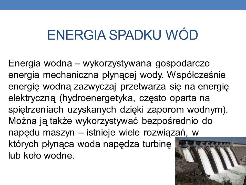 energia spadku wód