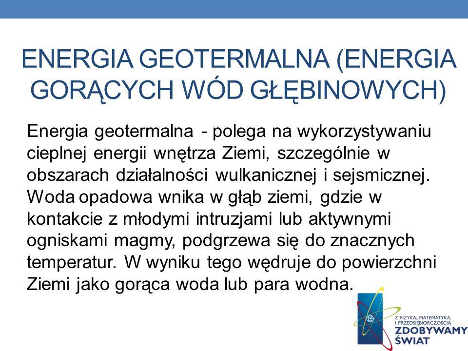 energia geotermalna (energia gorących wód głębinowych)