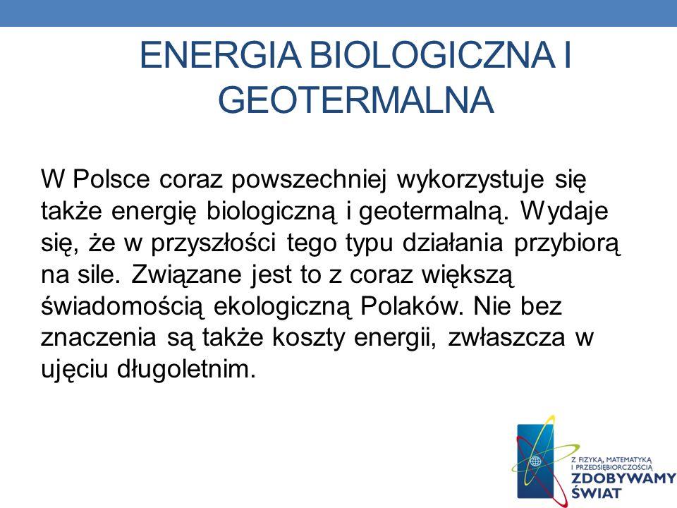 Energia biologiczna i geotermalna