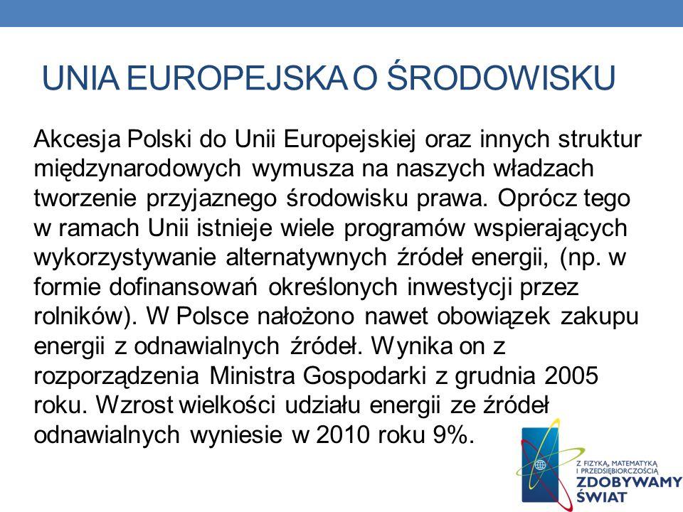 Unia europejska o środowisku