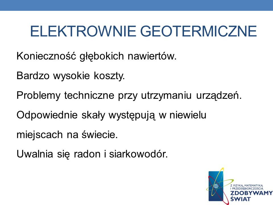 Elektrownie geotermiczne
