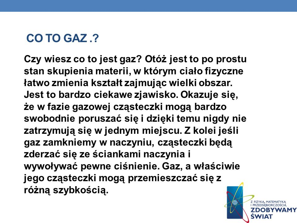 Co to gaz .
