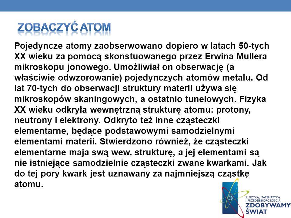 Zobaczyć atom