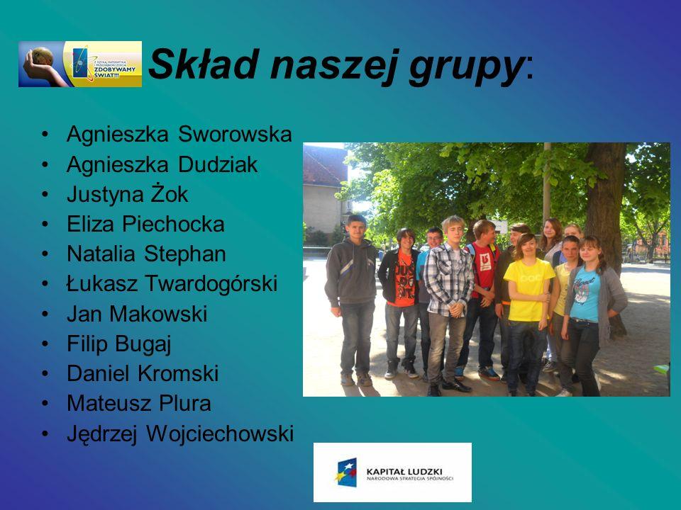 Skład naszej grupy: Agnieszka Sworowska Agnieszka Dudziak Justyna Żok