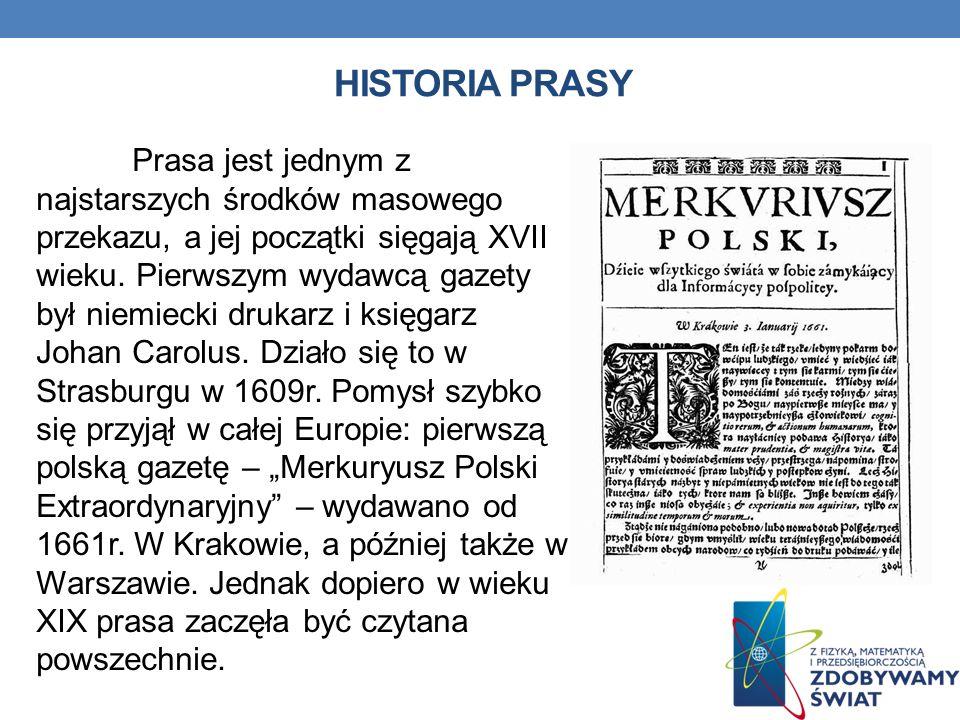 HISTORIA PRASY