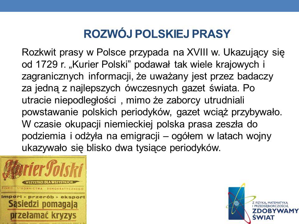 Rozwój polskiej prasy