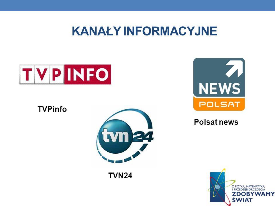 KANAŁY INFORMACYJNE TVPinfo Polsat news TVN24