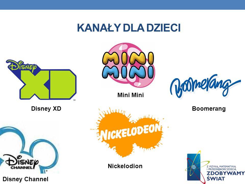 Kanały dla dzieci Mini Mini Disney XD Boomerang Nickelodion