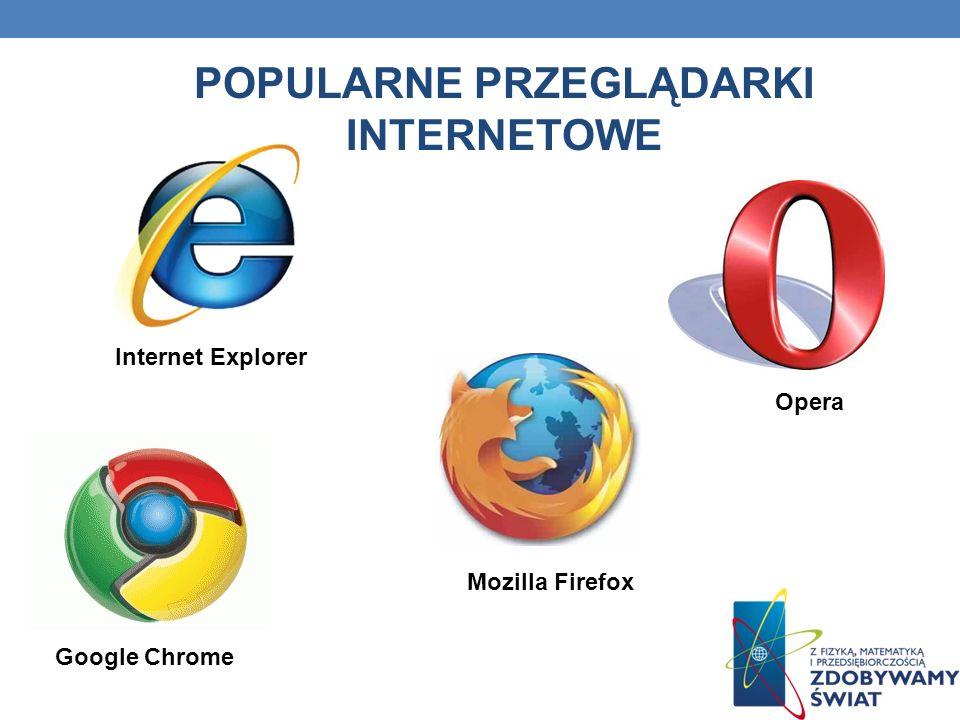 Popularne przeglądarki internetowe