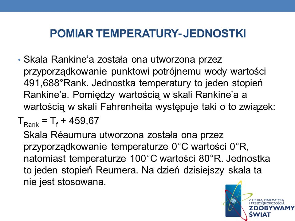 POMIAR TEMPERATURY- JEDNOSTKI