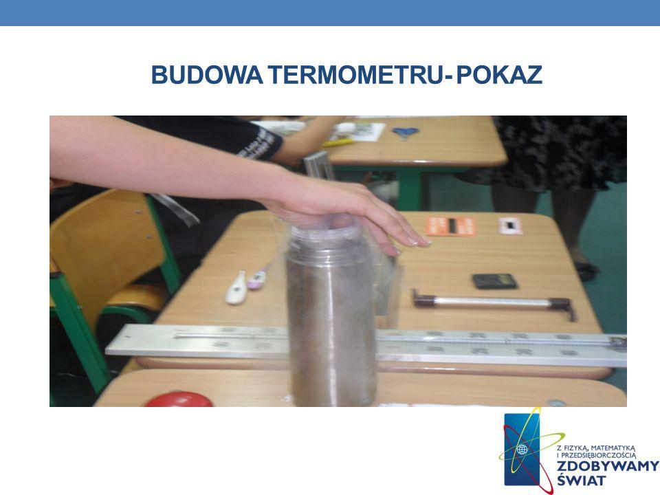 BUDOWA TERMOMETRU- POKAZ