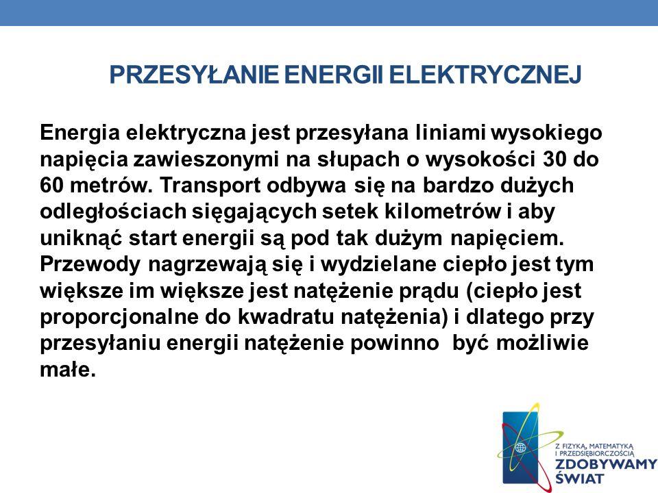 PRZESYŁANIE ENERGII ELEKTRYCZNEJ