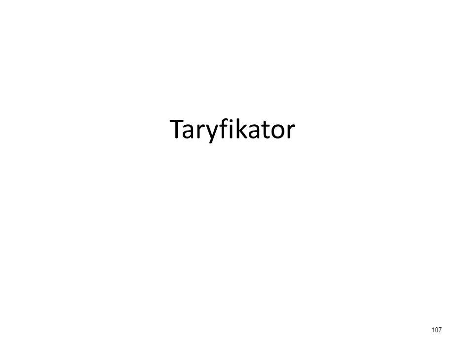 Taryfikator 107