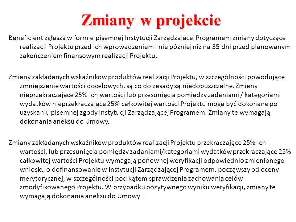 Zmiany w projekcie