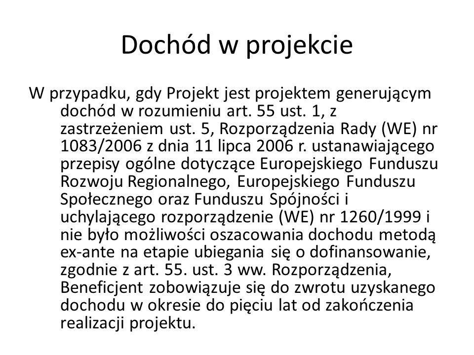 Dochód w projekcie