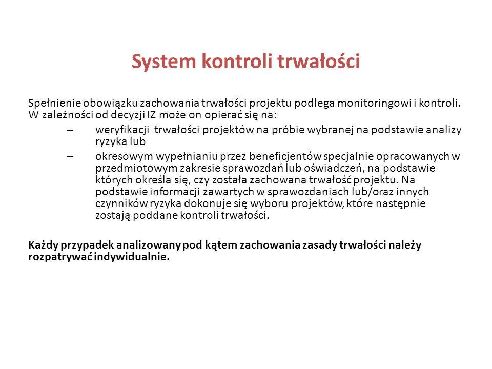 System kontroli trwałości