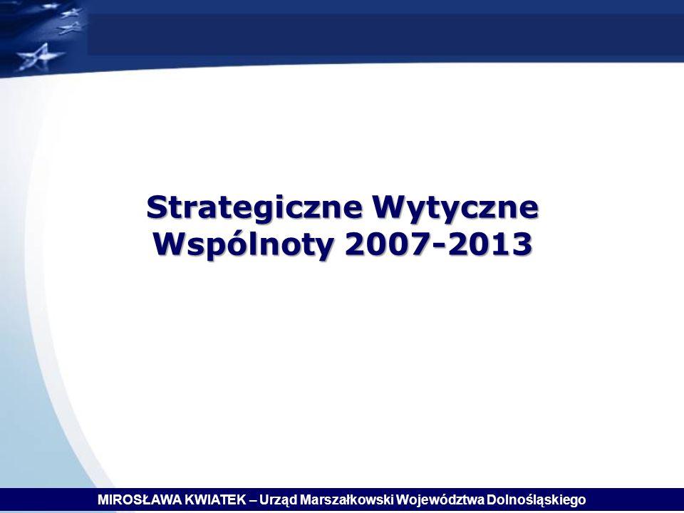 Strategiczne Wytyczne Wspólnoty 2007-2013
