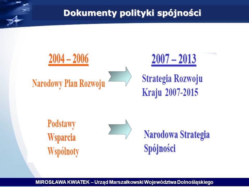 Dokumenty polityki spójności