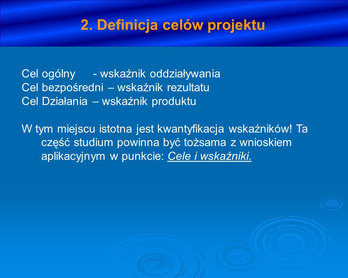 2. Definicja celów projektu