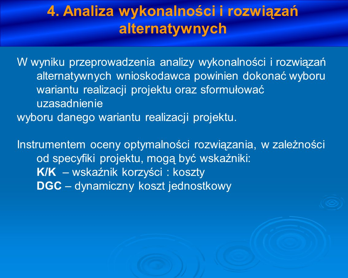 4. Analiza wykonalności i rozwiązań alternatywnych
