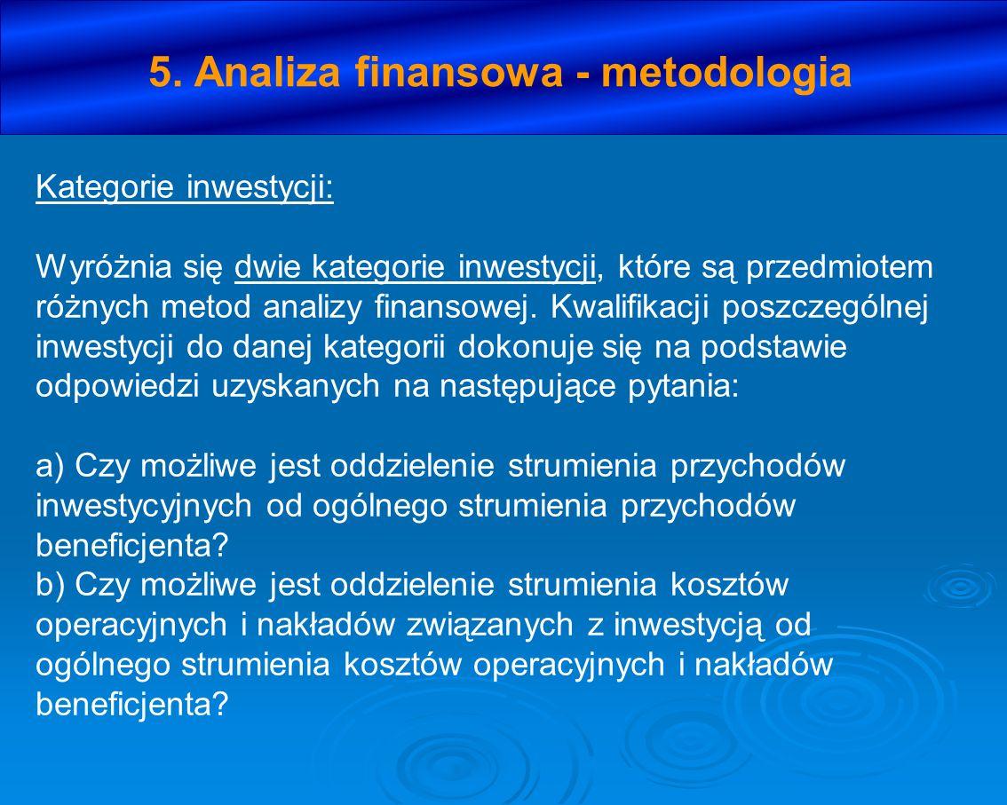 5. Analiza finansowa - metodologia
