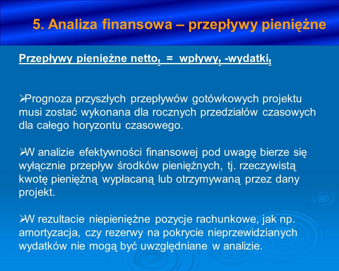 5. Analiza finansowa – przepływy pieniężne