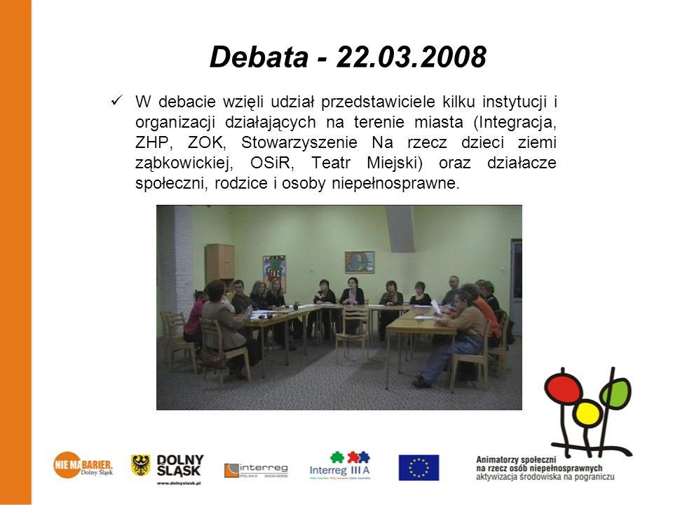 Debata - 22.03.2008