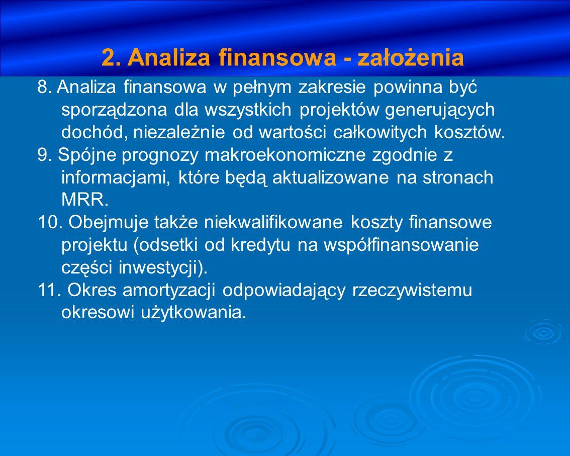 2. Analiza finansowa - założenia