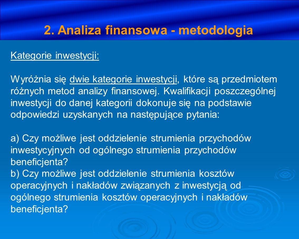 2. Analiza finansowa - metodologia