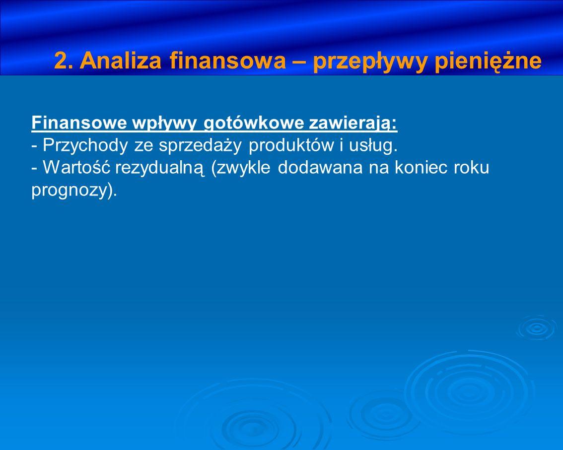 2. Analiza finansowa – przepływy pieniężne