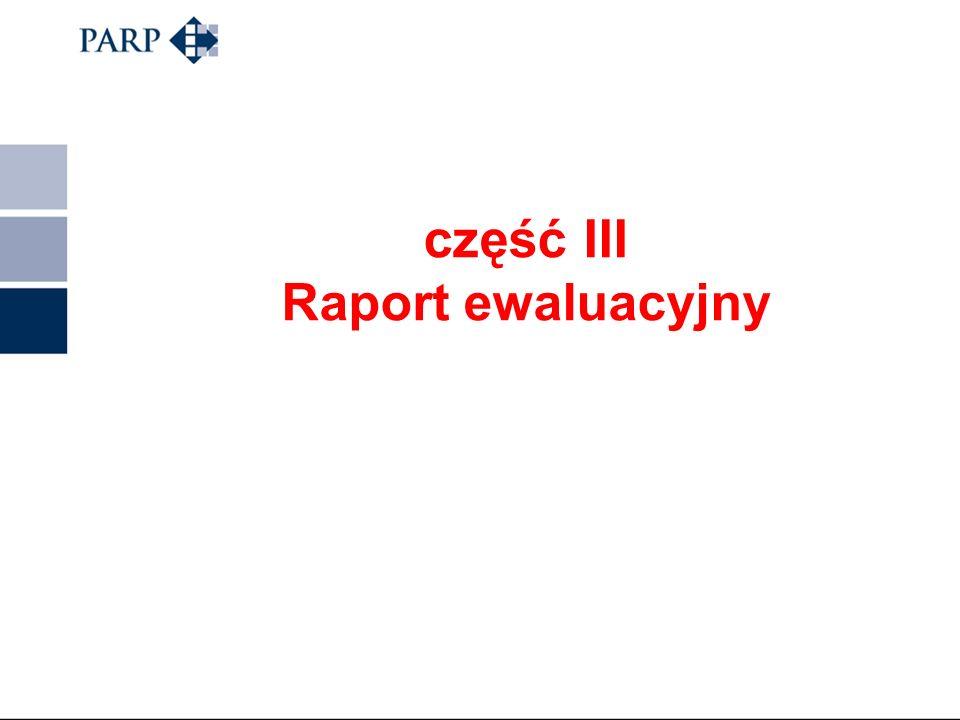 część III Raport ewaluacyjny