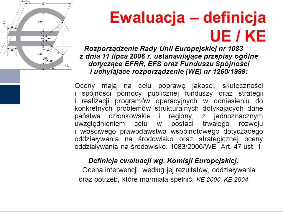 Ewaluacja – definicja UE / KE