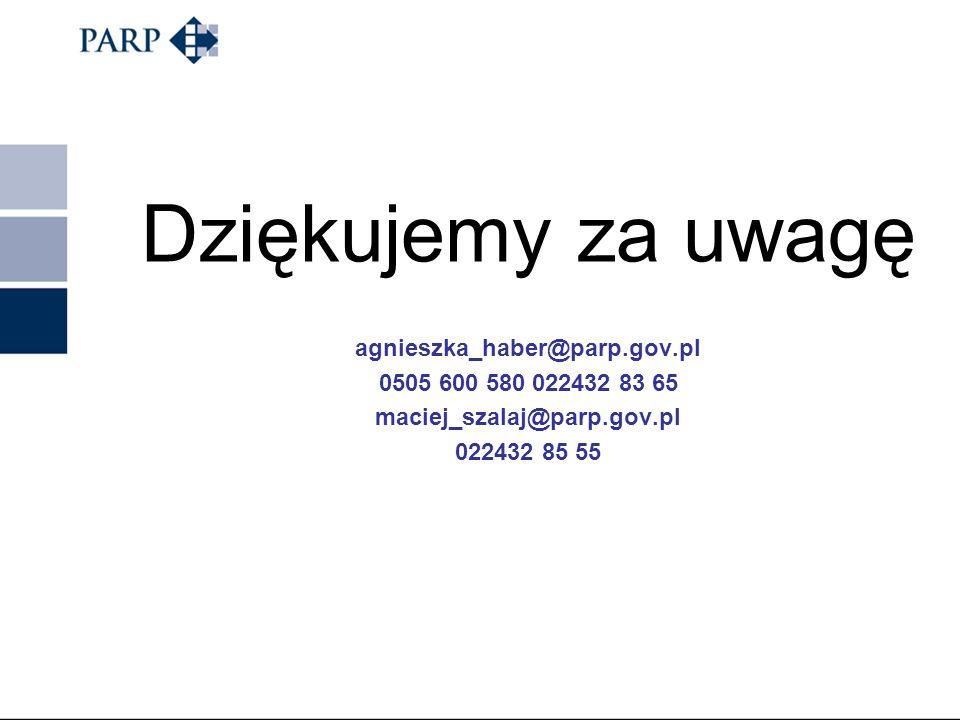 Dziękujemy za uwagę agnieszka_haber@parp.gov.pl