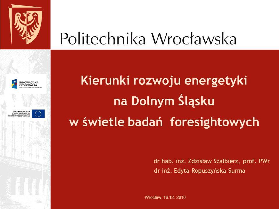 Kierunki rozwoju energetyki na Dolnym Śląsku w świetle badań foresightowych