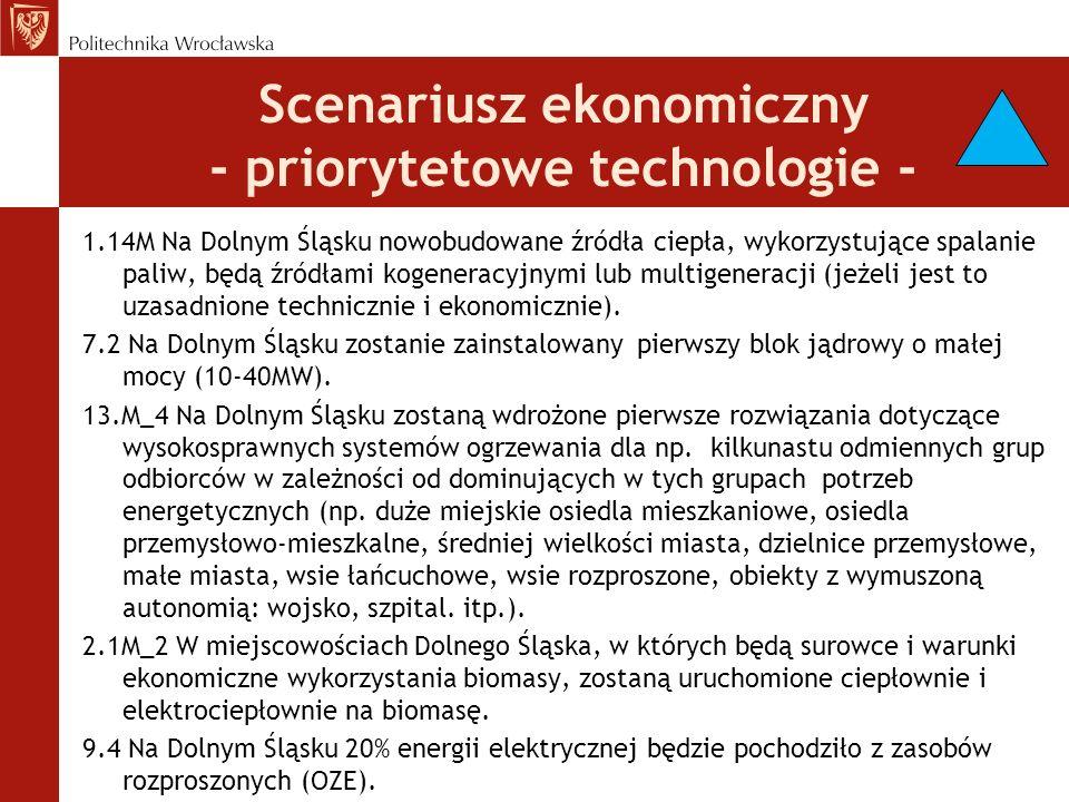 Scenariusz ekonomiczny - priorytetowe technologie -