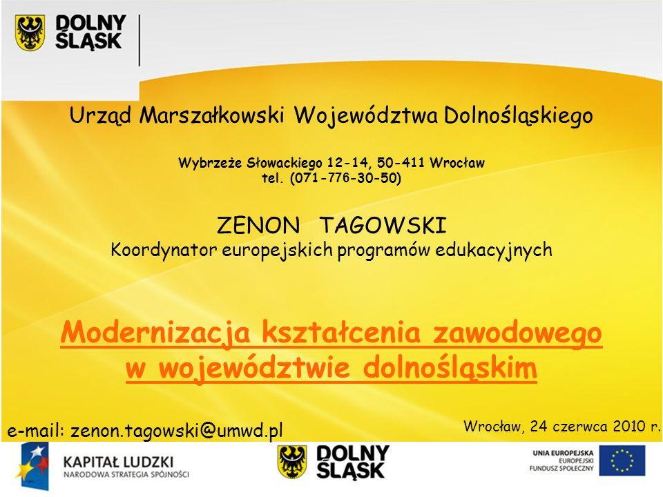 Modernizacja kształcenia zawodowego w województwie dolnośląskim