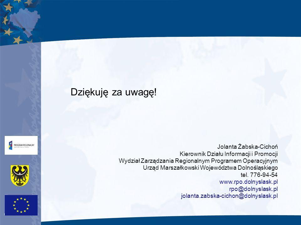 Dziękuję za uwagę! Jolanta Żabska-Cichoń